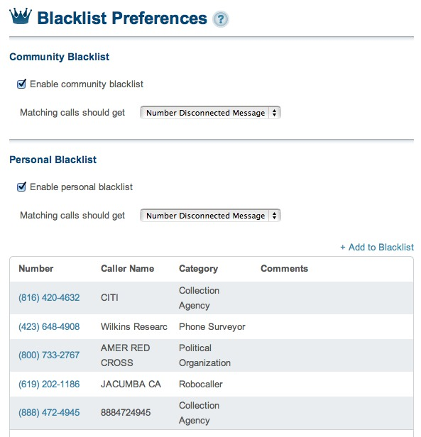OOMA Premier Blacklist Feature Review