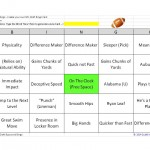 NFL Draft Buzzword Bingo Game