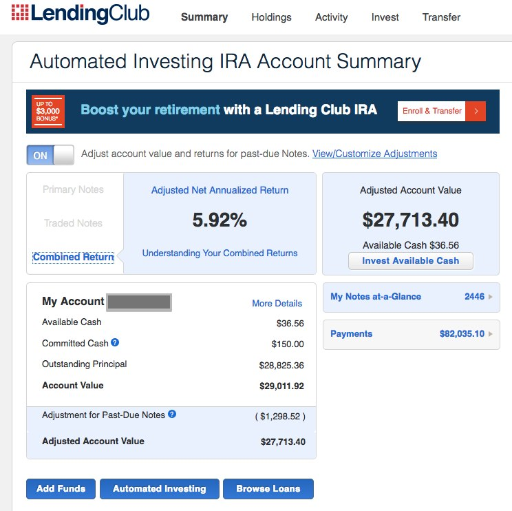 Lending Club abysmal returns